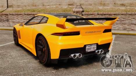GTA V Inuetero Coquette Hardtop DTD para GTA 4 Vista posterior izquierda