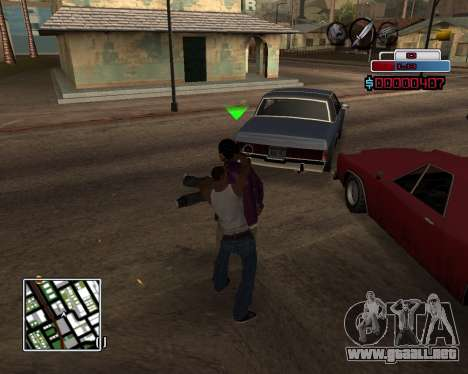 C-HUD by Braun para GTA San Andreas tercera pantalla