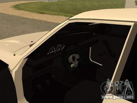Moskvich 2141 para GTA San Andreas vista hacia atrás