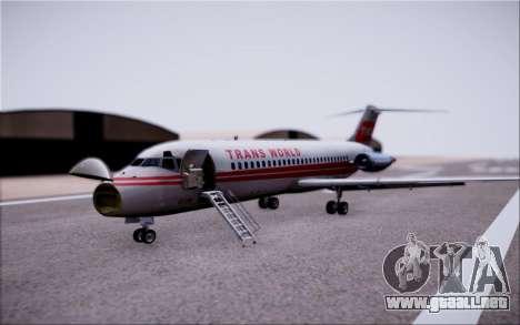 McDonnel Douglas DC-9-10 para vista lateral GTA San Andreas