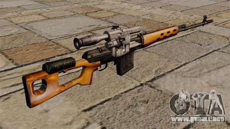 Rifle de francotirador Dragunov de S.T.A.L.K.E.R para GTA 4 segundos de pantalla