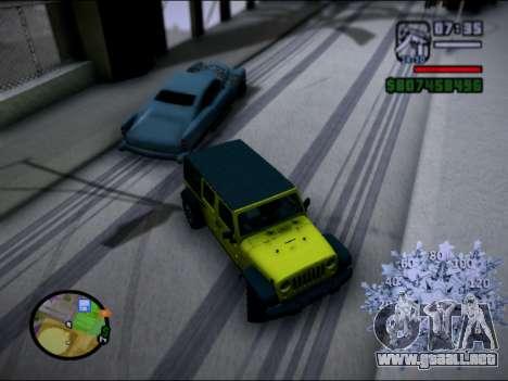 Jeep Wrangler Unlimited 2007 para GTA San Andreas left