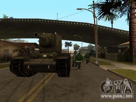KV-2 para GTA San Andreas vista hacia atrás