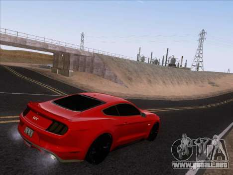 Ford Mustang GT 2015 para vista inferior GTA San Andreas