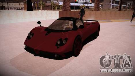 Pagani Zonda para GTA San Andreas vista posterior izquierda