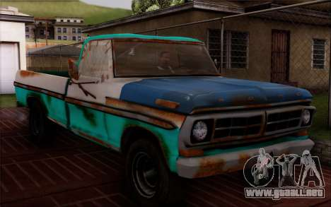 Ford F-150 Old Crate Edition para GTA San Andreas vista posterior izquierda