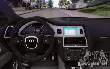 Audi Q7 Winter para la visión correcta GTA San Andreas