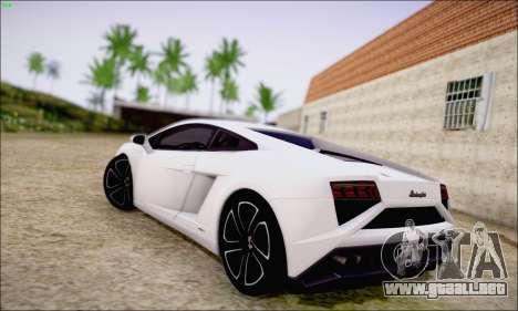 Lamborghini Gallardo LP560-4 2013 para GTA San Andreas vista posterior izquierda