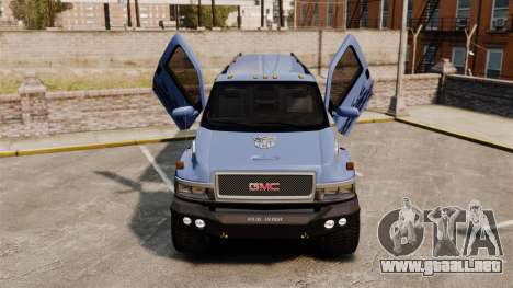 GMC Tough Guy para GTA 4 vista interior