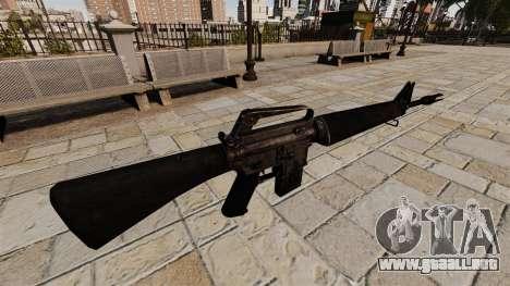 Rifle de asalto M16A4 Vietnam para GTA 4 segundos de pantalla