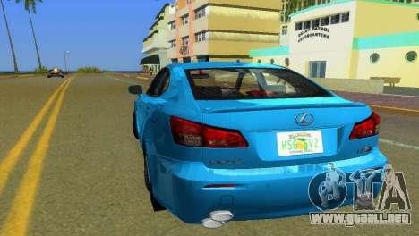 Lexus IS-F para GTA Vice City vista lateral izquierdo