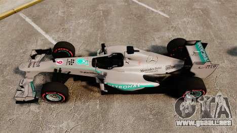Mercedes AMG F1 W04 v6 para GTA 4 visión correcta