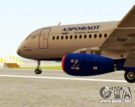 Sukhoi Superjet 100-95 Aeroflot para GTA San Andreas left