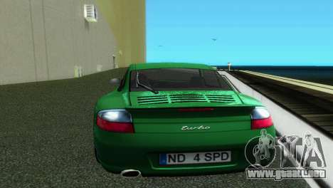Porsche 911 Turbo para GTA Vice City visión correcta