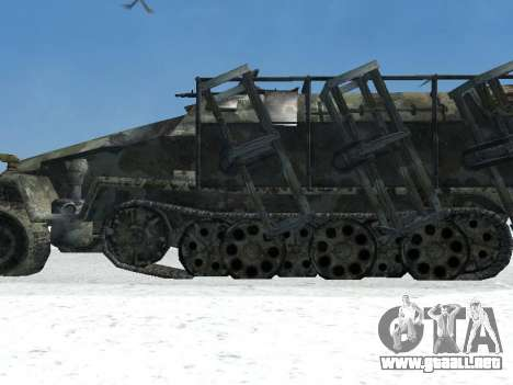 SdKfz 251 para GTA San Andreas vista posterior izquierda