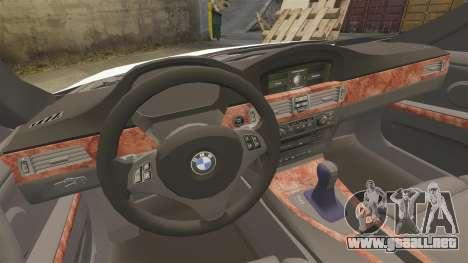 BMW 350i NYPD [ELS] para GTA 4 vista lateral