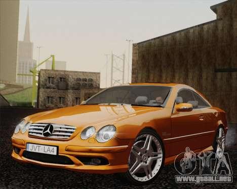 Mercedes-Benz CL65 para GTA San Andreas vista posterior izquierda