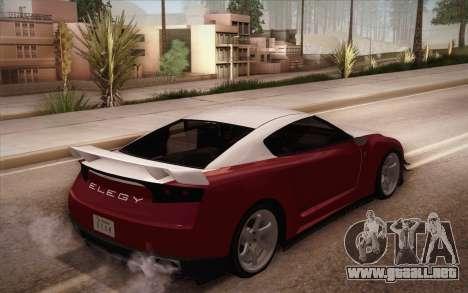 Elegy RH8 from GTA V para GTA San Andreas vista posterior izquierda