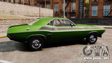 Dodge Challenger 1971 v2 para GTA 4 left