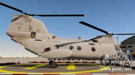 Boeing CH-46D Sea Knight para GTA 4 left