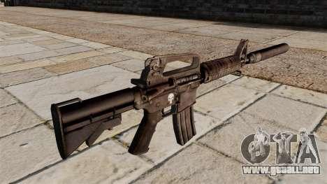 Carabina M4 SMG con silenciador para GTA 4 segundos de pantalla