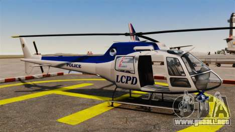 GTA V Police Maverick para GTA 4 vista interior