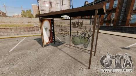Nuevos carteles en las paradas de autobús para GTA 4