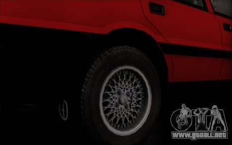 FSO Polonez Caro 1.4 GLI 16V para GTA San Andreas vista posterior izquierda