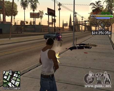 C-HUD by Stealth Sniper para GTA San Andreas segunda pantalla