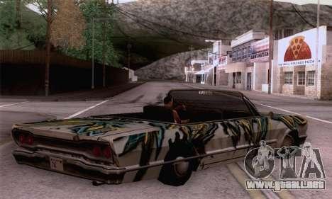 El trabajo de pintura para Sabana para GTA San Andreas left
