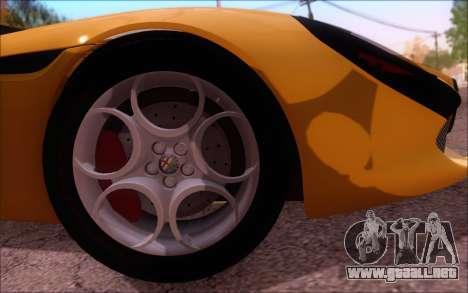 Alfa Romeo TZ3 2011 para visión interna GTA San Andreas