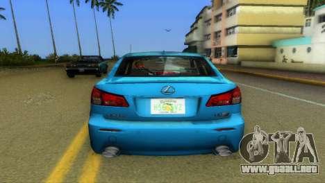 Lexus IS-F para GTA Vice City vista posterior