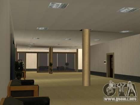 Nuevas texturas Interior Ayuntamiento para GTA San Andreas octavo de pantalla