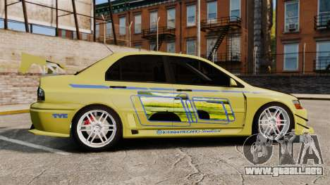 Mitsubishi Lancer Evolution IX 2006 tuning 2f2f para GTA 4 left