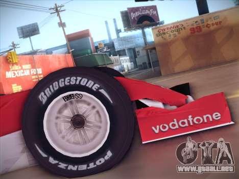 Ferrari F1 2005 para la visión correcta GTA San Andreas