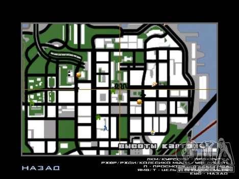 Nueva campana e iconos en el mapa para GTA San Andreas tercera pantalla