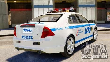 Ford Fusion LCPD 2011 [ELS] para GTA 4 left
