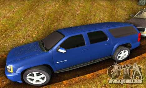Chevrolet Suburban 2008 para GTA San Andreas vista posterior izquierda