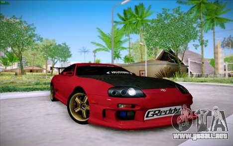 Toyota Supra RZ 1998 Drift para GTA San Andreas left