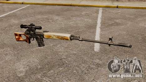 V1 de rifle de francotirador Dragunov para GTA 4