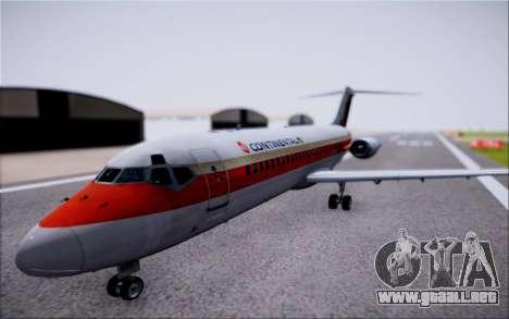 McDonnel Douglas DC-9-10 para GTA San Andreas vista posterior izquierda