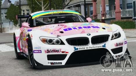 BMW Z4 GT3 2010 para GTA 4 left