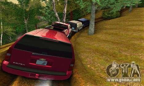 Chevrolet Suburban 2008 para GTA San Andreas vista hacia atrás