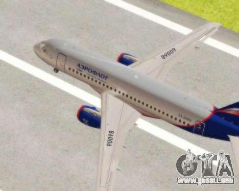 Sukhoi Superjet 100-95 Aeroflot para la visión correcta GTA San Andreas