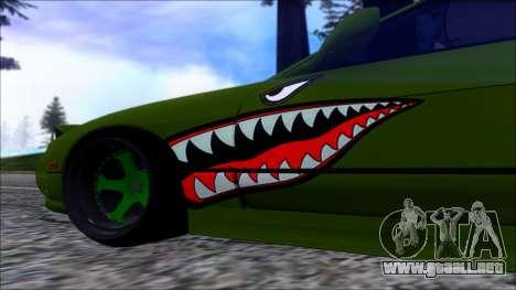 Nissan Onevia Shark para GTA San Andreas vista posterior izquierda
