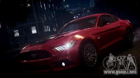 Ford Mustang GT 2015 para GTA 4 vista desde abajo