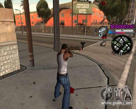 C-HUD by Andy Cardozo para GTA San Andreas segunda pantalla