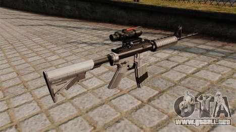 Automático carabina M4A1 espiado para GTA 4 segundos de pantalla