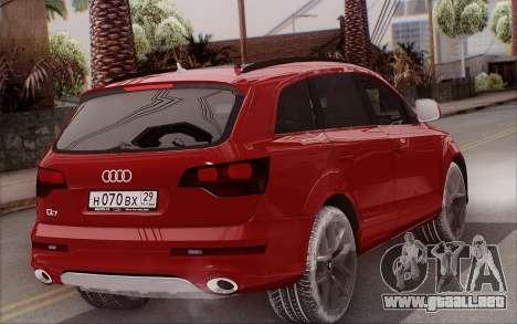 Audi Q7 Winter para GTA San Andreas left