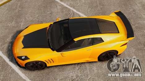 GTA V Inuetero Coquette Hardtop DTD para GTA 4 visión correcta